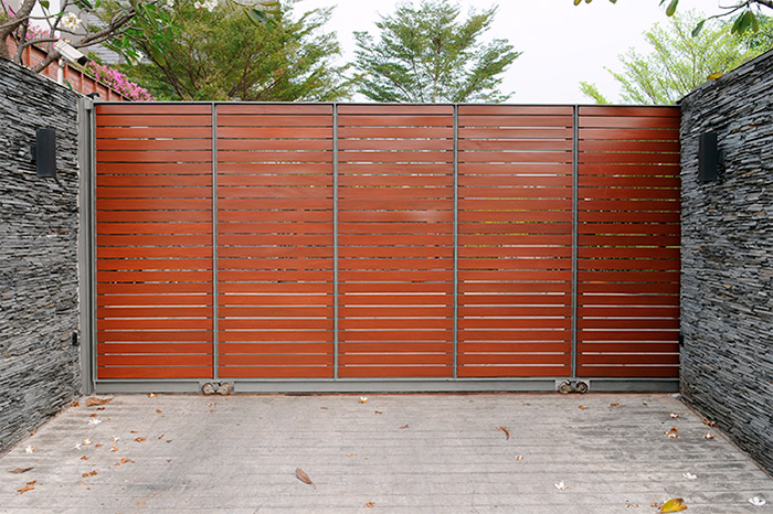 Wooden Sliding Electric Gate
